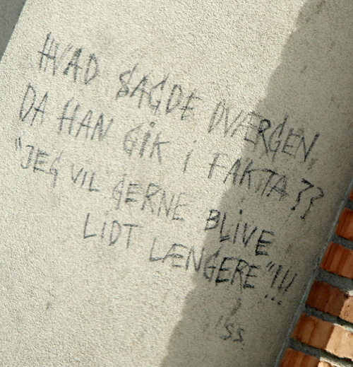 Streetart Kastetvej i Aalborg